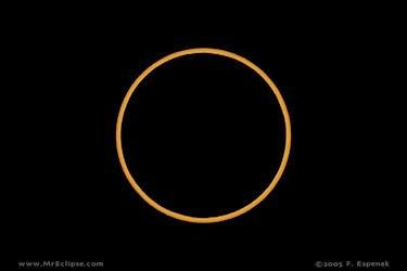 Annular eclipse photo